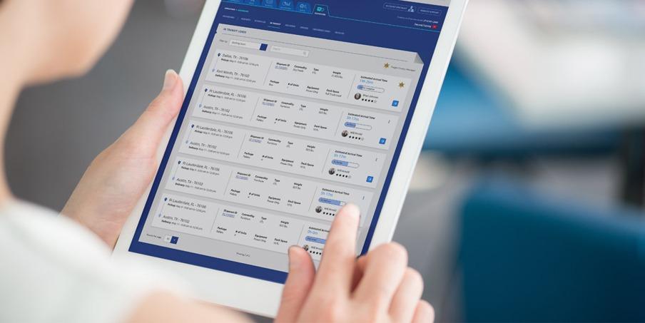 custom logistics web portal