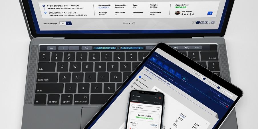 custom logistics web portal app